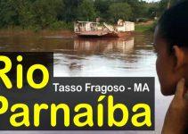 Casal mozim filmando o Rio Parnaíba em Tasso Fragoso